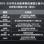 大学連盟が2018年の長野県内で行う公式戦の暫定日程を発表!
