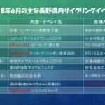 2018年6月の主な長野県内の自転車イベント予定。