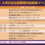 〔お知らせ〕2018年 9月の主な長野県内自転車イベント情報!